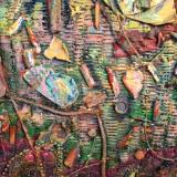 "Detail of Andrea Brown's Woven Painting for ""Mississippi Goddamn"""