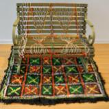 The Crocheted River Bench